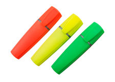 Three Highlighter Pens Stock Photography