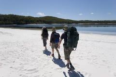 Three hikers in australia 2 Royalty Free Stock Photo