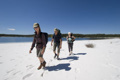 Three hikers in australia 7 Stock Images
