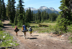 Three Hikers in Callaghan Valley