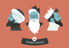 Three Hipsters Kings Royalty Free Stock Images