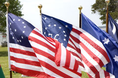 Three Historic Flags Stock Image