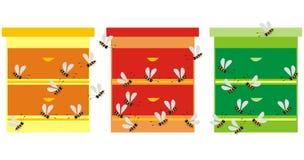 Three hives royalty free stock photo