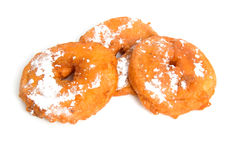 Three home baked Dutch appelflappen Royalty Free Stock Photography