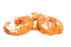 Three home bakes apple fritter Stock Images