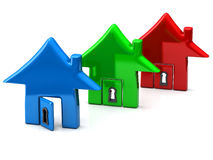 Three home together, 3d icon Stock Photography
