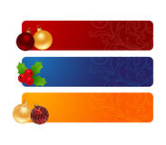 Three horizontal banners Stock Images