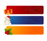 Three horizontal banners Stock Photo