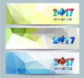 Three Horizontal  banners set for chinese new year of rooster  illustrtion Stock Photography