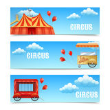 Three horizontal circus banners Royalty Free Stock Photography