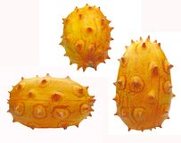 Three horned melon fruits Stock Images