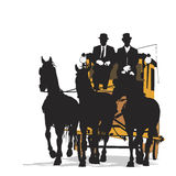 Three-horse drawn carriage Royalty Free Stock Photography