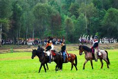 Three horse riders Royalty Free Stock Images