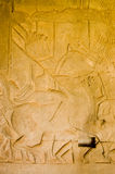 Three horsemen, Angkor Wat, Cambodia Royalty Free Stock Images