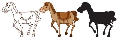Three horses Stock Images