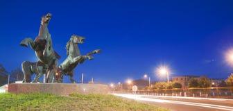 Three horses sculpture Royalty Free Stock Photo
