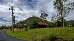 The town centre of St Alban`s on the Great Northern Road between Wiseman`s Ferry and Bucketty, Yengo National Park, NSW, stock photos