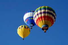 Three Hot Air Balloons Stock Image