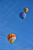 Three Hot Air Balloons in the air Stock Image