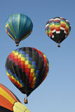 Three Hot Air Balloons in the sky. Royalty Free Stock Photo