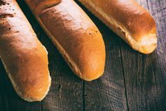 Three hot baguette Royalty Free Stock Images