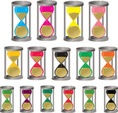Three hourglass Stock Photo