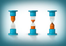 Three hourglasses Royalty Free Stock Photo