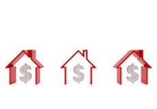 Three houses Royalty Free Stock Photography