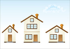Three houses. ( illustration Stock Image