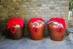 Three HuaJiu, Rice wine, China Royalty Free Stock Photography