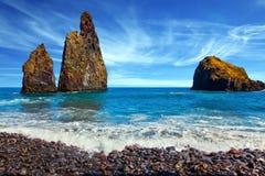 Three huge scenic rocks Stock Photography