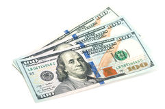 Three hundred dollar bills Stock Images