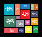 Three hundred and sixty degree icon. Three hundred and sixty degree abstract icon Royalty Free Stock Images