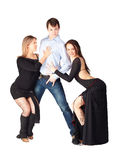 Three hustle dancers Stock Photography