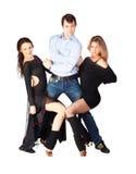 Three hustle dancers Royalty Free Stock Photos
