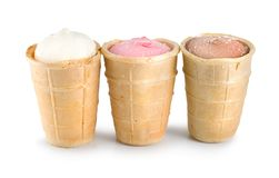 Three ice cream Royalty Free Stock Photography