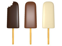 Three ice creams Stock Images