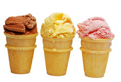 Three ice creams Royalty Free Stock Image