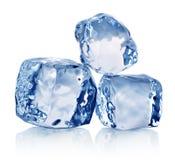 Three ice crystals Royalty Free Stock Photos