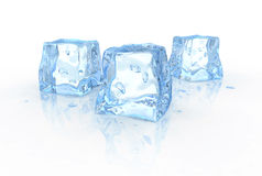 Three ice cubes Stock Images