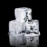 Three Ice Cubes Royalty Free Stock Photography