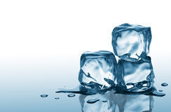 Three ice cubes Royalty Free Stock Image