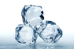 Three ice cubes Stock Photography