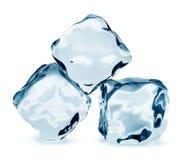 Three ice cubes Royalty Free Stock Photos