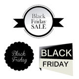 Three icon for black friday Royalty Free Stock Photo