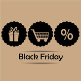 Three icons for black friday Royalty Free Stock Image