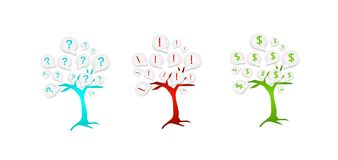 Three icons trees Royalty Free Stock Photos