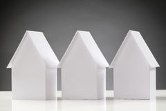 Three Identical Houses in a Row Royalty Free Stock Photography