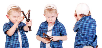 Three images of little madcap Royalty Free Stock Photos