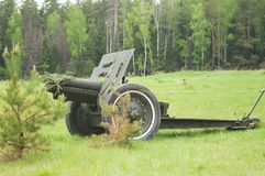 Three inches divisional cannon sample 1902-1930 Stock Photo